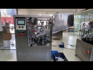 el kremi diş macunu için otomatik plastik tüp dolum yapıştırma makinesi