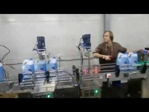 otomatik anti korozif tuvalet temizleyici dezenfektan sıvı ağartıcı dolum makinası hattı