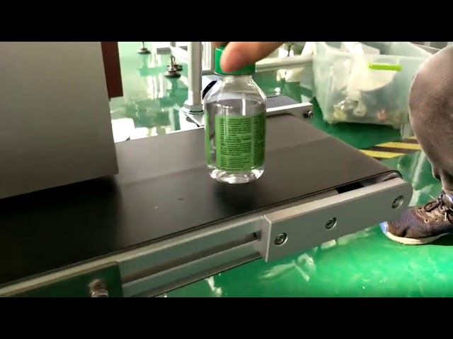 plastik su şişeleri için masaüstü etiket etiketleme makinesi