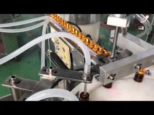 Otomatik 5-30 ml cam damlalık küçük şişe göz damlası flakon e sıvı dolum kapatma makinesi