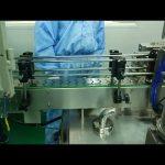 Yuvarlak şişe için 30ml ila 100ml çift hat dolum ve vidalama makinesi