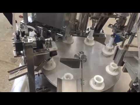 otomatik yumuşak plastik macun, merhem, diş macunu, tüp dolum yapıştırma makinesi
