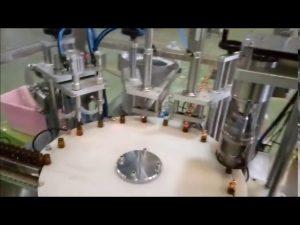 otomatik e sıvı 10 ml şişe dolum takmayı kapatma makinesi