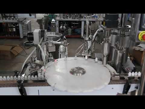 otomatik göz damlası dolum makinası, küçük şişe dolum ve mühürleme makinası