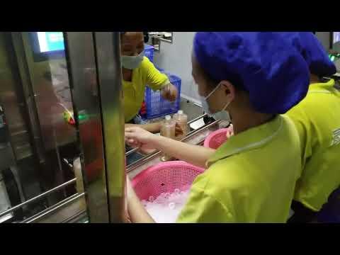 4 nozul şampuan, deterjan, sıvı sabun, zeytinyağı yağı dolum ve kapatma makinası