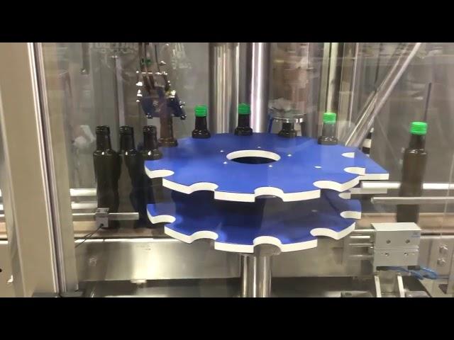 cam şişe için ropp alüminyum vidalı kapak otomatik kapatma yapıştırma makinesi