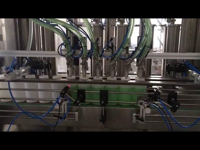 piston sıvı sabun şişe dolum makinası