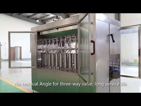 Otomatik piston pet cam şişe yağ sıvı dolum kapaklama etiketleme makinesi hattı