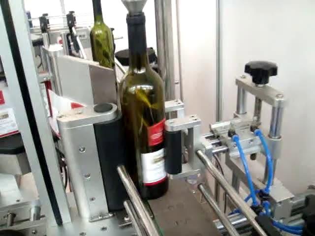 yüksek hızlı çift taraflı ve yuvarlak şişe otomatik etiketleme makinesi