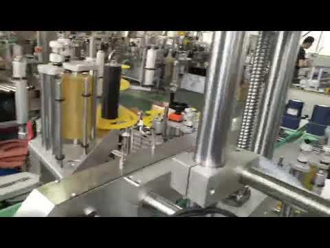 Otomatik plastik ve cam şişe kavanoz kendinden yapışkanlı etiket etiketleme makinesi