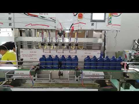 Çin otomobil endüstrisi için otomatik 5000ml madeni motor yağı dolum makinası