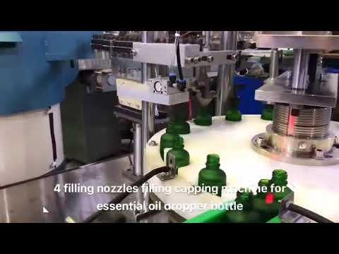 damlalık şişe uçucu yağ cbd yağ dolum makinası