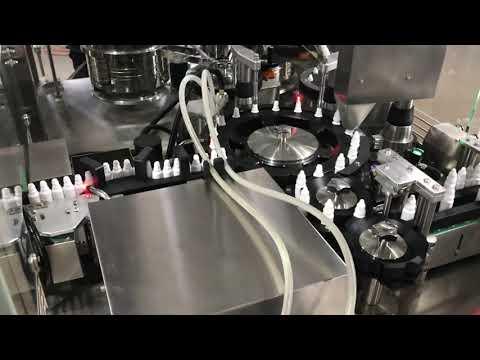 20 ml küçük şişe için ilaç göz damlası dolum kapatma makinesi
