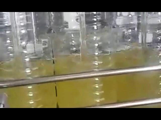 otomatik şişe dolum yemeklik yağ paketleme makinesi